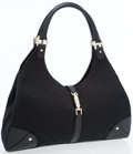Luxury Accessories:Bags, Gucci Black Classic Monogram Canvas Large Bardot Bag. ...