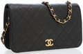 Luxury Accessories:Bags, Chanel Black Quilted Lambskin Leather Flap Bag with Gold Hardware. ...