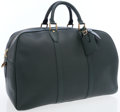 Luxury Accessories:Travel/Trunks, Louis Vuitton Hunter Green Taiga Leather Kendall 45 WeekenderOvernight Bag. ...