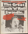 Books:Music & Sheet Music, [Sex Pistols]. Michael Moorcock. The Great Rock 'n' Roll Swindle. London, 1980. First edition, first printing. ...