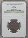 Half Cents, 1805 1/2 C Medium 5, No Stems Fine 15 NGC. C-1. NGC Census:(4/111). PCGS Population (5/145). Mintage: 814,464. Numismedia...