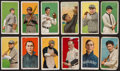 Baseball Cards:Lots, 1909-11 T206 White Borders Tobacco Card Collection (12) - All PolarBear Brand Backs! ...