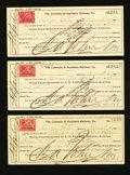 Miscellaneous:Other, Denver, CO- The Colorado & Southern Railway Co. Various AmountsAug. 28, 1900 Three Consecutive Examples. ... (Total: 3 items)