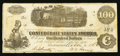 Confederate Notes:1862 Issues, T40 $100 1862 PF-15 Cr. UNL.. ...