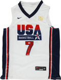 Basketball Collectibles:Uniforms, Larry Bird Signed USA Jersey....