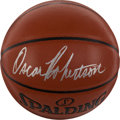 Basketball Collectibles:Balls, Oscar Robertson Signed Basketball....