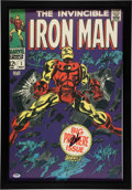 "Miscellaneous Collectibles:General, Stan Lee Signed ""Iron Man"" Oversized Print...."