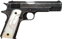 Important Gough Engraved Colt Government Model 1911 Semi-Automatic Pistol Shipped to Colt President C.L.F.Robinson
