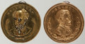 Political:Tokens & Medals, Ulysses S. Grant and Horatio Seymour: Brass Shell Lockets.... (Total: 2 Items)