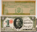 Political:Small Paper (1896-present), William Jennings Bryan: Campaign Funny Money 1896-1908. ... (Total:2 Items)