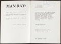 Books:Art & Architecture, [Man Ray]. Arturo Schwartz, editor. Man Ray: 60 Years of Liberties. Paris, [1971]. First edition. Inscribed an...