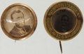 Political:Ferrotypes / Photo Badges (pre-1896), Abraham Lincoln and Ulysses S. Grant: Photographic Badges.... (Total: 2 Items)