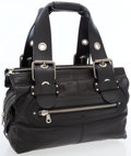 Luxury Accessories:Bags, Chloe Black Leather Bag with Antiqued Silver Hardware and ChainShoulder Strap. ...
