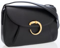Luxury Accessories:Bags, Cartier Black Leather Classic Panthere Shoulder Bag. ...