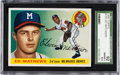 Baseball Cards:Singles (1950-1959), 1955 Topps Eddie Mathews #155 SGC 92 NM/MT+ 8.5 - None Higher. ...