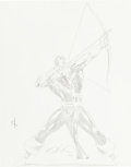 Original Comic Art:Sketches, Dave Ross Hawkeye Convention Sketch Original Art (1982)....