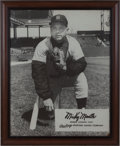 Baseball Collectibles:Others, Circa 1960 Mickey Mantle Rawlings Advertising Poster....