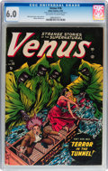 Golden Age (1938-1955):Horror, Venus #18 (Timely, 1952) CGC FN 6.0 Off-white to white pages....