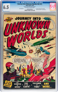 Golden Age (1938-1955):Science Fiction, Journey Into Unknown Worlds #36 (#1) (Atlas, 1950) CGC FN+ 6.5Off-white to white pages....