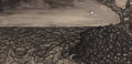Texas, OTIS DOZIER (American, 1904-1987). Untitled. Ink, ink wash,and pen on board. 12 x 24 inches (30.5 x 61.0 cm). Signed ce...