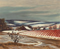 "Paintings, GERALD WILLIAMSON ""JERRY"" BYWATERS (American, 1906-1989). Light Snow, 1942. Oil on masonite. 24 x 30 inches (61.0 x 76.2..."