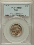 Buffalo Nickels: , 1913 5C Type One MS64 PCGS. PCGS Population (3589/5474). NGCCensus: (2114/3879). Mintage: 30,993,520. Numismedia Wsl. Pric...