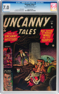 Uncanny Tales #1 (Atlas, 1952) CGC FN/VF 7.0 Cream to off-white pages