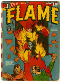 Golden Age (1938-1955):Superhero, The Flame #5 (Fox, 1941) Condition: GD. Features a Zanzibar story with George Tuska art. Overstreet 2006 GD 2.0 value = $91....