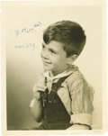 "Movie/TV Memorabilia:Autographs and Signed Items, Robert Blake Signed Photo to Buckwheat. An 8"" x 10"" portrait ofRobert Blake during his 1939-1944 Our Gang era, when he...(Total: 1 Item)"