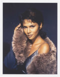"""Movie/TV Memorabilia:Photos, Halle Berry Limited Edition Photo by Harry Langdon. A gorgeouscolor 11"""" x 14"""" photo of a fur-clad Berry, #2 in a limited se...(Total: 1 Item)"""
