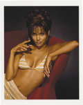 """Movie/TV Memorabilia:Photos, Halle Berry Limited Edition Swimsuit Photo by Harry Langdon. Thisstunning color 11"""" x 14"""" photo of the Academy Award-winnin...(Total: 1 Item)"""