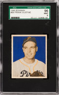 Baseball Cards:Singles (1940-1949), 1949 Bowman Frank Gustine #99 SGC 96 Mint 9 - Pop One, Highest SGC on Record! ...