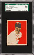 Baseball Cards:Singles (1940-1949), 1949 Bowman Sheldon Jones #68 SGC 96 Mint 9 - Pop One, Highest SGCon Record! ...