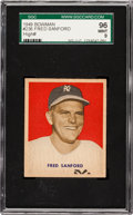 Baseball Cards:Singles (1940-1949), 1949 Bowman Fred Sanford #236 SGC 96 Mint 9 - Pop One, None Higher!...