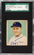 Baseball Cards:Singles (1940-1949), 1949 Bowman Virgil Trucks #219 SGC 96 Mint 9 - Pop One, NoneHigher! ...