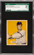 Baseball Cards:Singles (1940-1949), 1949 Bowman Johnny Blatnick #123 SGC 96 Mint 9 - Pop One, Highest SGC! ...