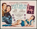 "Movie Posters:Musical, Meet Me in Las Vegas (MGM, 1956). Half Sheet (22"" X 28"") Style B. Musical.. ..."