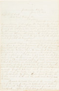 Autographs:Military Figures, Union Army Florida Expedition Report....