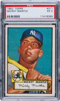 Baseball Cards:Singles (1950-1959), 1952 Topps Mickey Mantle #311 PSA EX 5....