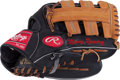 Baseball Collectibles:Others, 2000's Manny Ramirez Game Used Fielder's Glove. ...