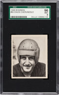 Football Cards:Singles (Pre-1950), 1948 Bowman Charles Cherundolo #50 SGC 96 Mint 9 - Pop Two, HighestSGC Example! ...