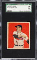 Baseball Cards:Singles (1940-1949), 1949 Bowman Bob Feller, Tan Back #27 SGC 96 Mint 9 - Pop Two, NoneHigher. ...