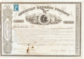 Autographs:Celebrities, Henry Wells, William Fargo, Alex Holland American Express StockCertificate Signed....
