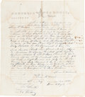 Autographs:Military Figures, Albert Sidney Johnston Document Signed...