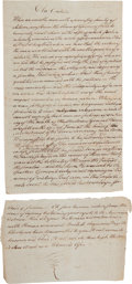 Miscellaneous:Ephemera, [Death of General Joseph Warren]. Period Fair Copy of a EulogyAttributed to Dr. Thomas Young....