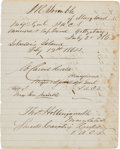 Autographs:Military Figures, [Confederate Prisoners of War]. General Isaac R. Trimble AutographEndorsement Signed...