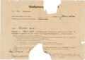 Autographs:Non-American, Adolf Eichmann Power of Attorney Signed....