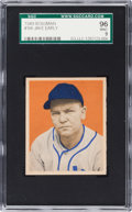 Baseball Cards:Singles (1940-1949), 1949 Bowman Jake Early #106 SGC 96 Mint 9 - Pop One, Highest SGC onRecord! ...