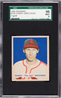 Baseball Cards:Singles (1940-1949), 1949 Bowman Harry Brecheen #158 SGC 96 Mint 9 - Pop One, HighestSGC Known! ...