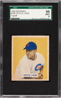 Baseball Cards:Singles (1940-1949), 1949 Bowman Doyle Lade #168 SGC 96 Mint 9 - Pop One, Highest SGC onRecord! ...